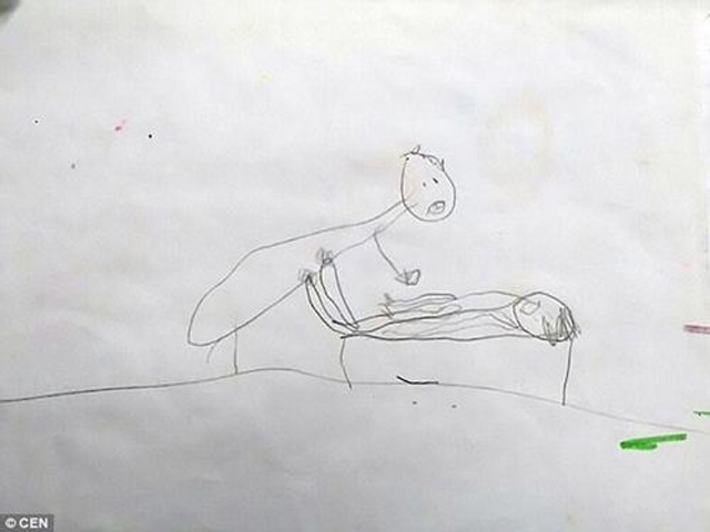 Những nét vẽ đơn giản nhưng ẩn chứa sự thật đáng sợ mà trẻ muốn nói