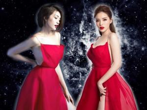 Kỳ Duyên so kè độ nóng bỏng với Lệ Hằng trong cùng một chiếc đầm đỏ quyến rũ
