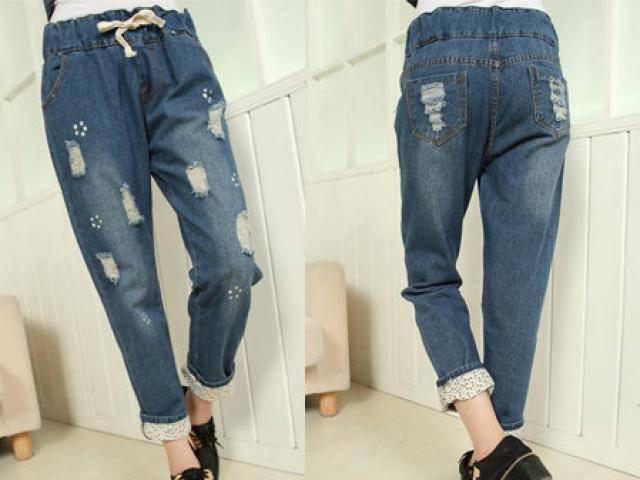 Tự làm quần Jean rách không còn là điều quá khó khăn với các nàng nữa rồi