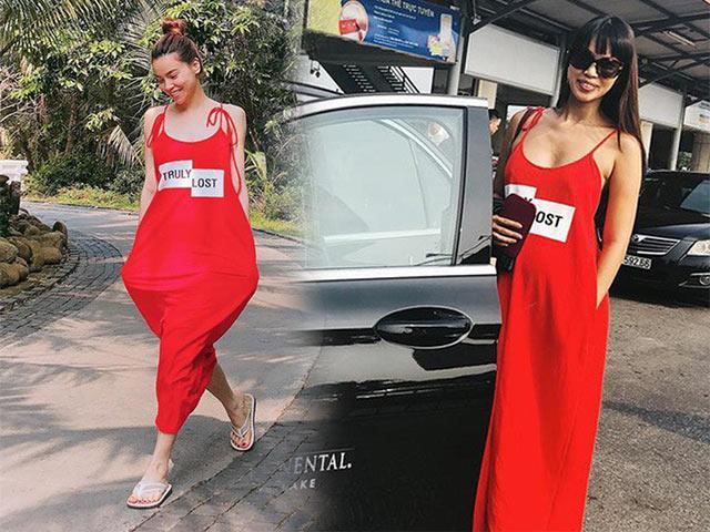 Hà Anh giấu bụng bầu siêu đỉnh với váy 550 ngàn, Hồ Ngọc Hà cũng diện lại y hệt!