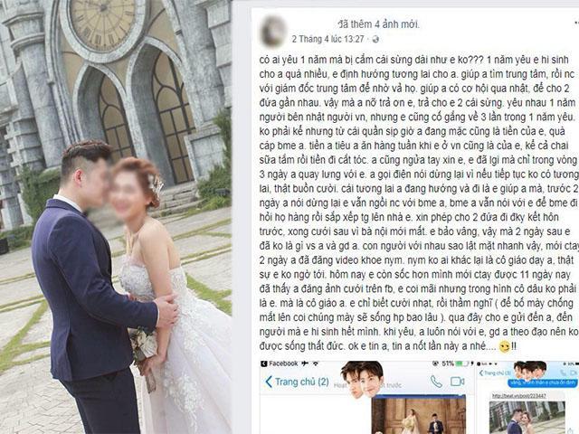 Cô gái bóc phốt người yêu vừa đòi chia tay, 11 ngày sau đăng ảnh cưới với người khác