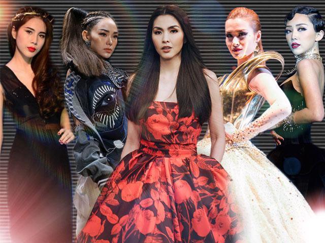 Đọ trình catwalk của Tăng Thanh Hà, Thuỷ Tiên, Minh Hằng trên sàn diễn thời trang
