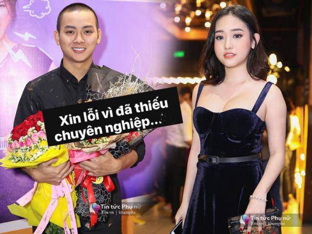 Hoài Lâm xin lỗi vì đến muộn, Thuý Vi khoe ngực căng tròn trong buổi công chiếu phim