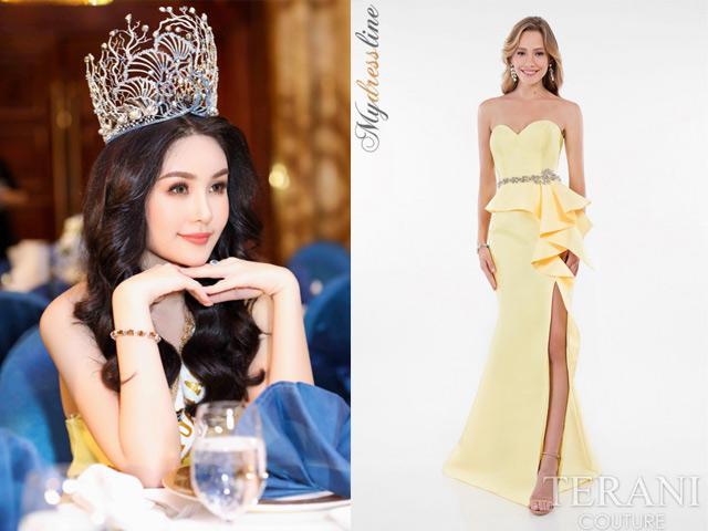 Hoa hậu Lê Âu Ngân Anh đội vương miện, diện váy vàng, tự tin xuất hiện sau loạt sóng gió