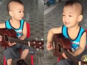 Cậu bé 5 tuổi gõ song loan, đàn Vọng kim lang tròn câu chuẩn nhịp khiến dân mạng phát sốt
