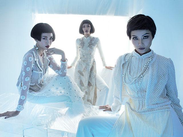 H Hen Niê, Hoàng Thuỳ và Mâu Thuỷ đồng loạt để tóc ngắn diện áo dài tuyệt đẹp