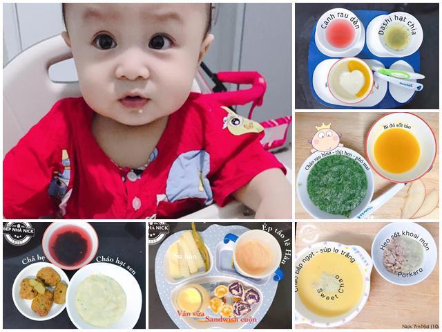 Thực đơn ăn dặm nhiều món ngon của mẹ Sài thành khiến bé 8 tháng hết chứng biếng ăn