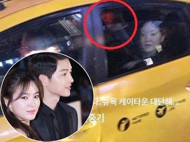 Fan bắt gặp Song Hye Kyo say xỉn, Song Joong Ki phải dìu vợ lên xe taxi