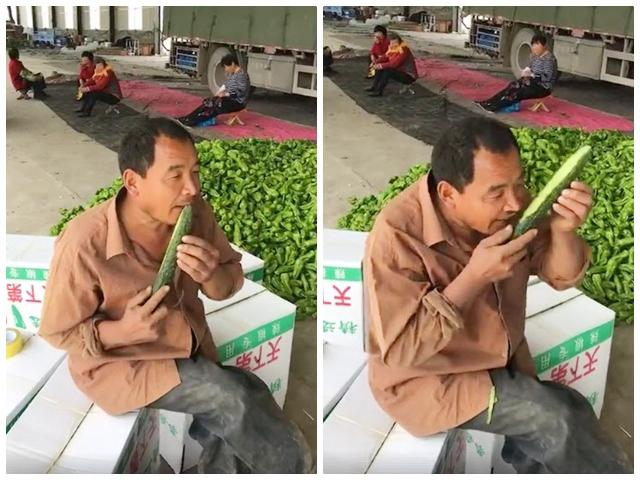 Dùng răng nạo vỏ dưa nhanh như cắt, người đàn ông khiến người bán dao khóc vì sợ thất nghiệp