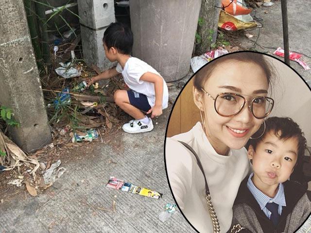 Bà mẹ xinh đẹp trị con 5 tuổi không chịu đi học bằng cách... cho ra đường nhặt rác