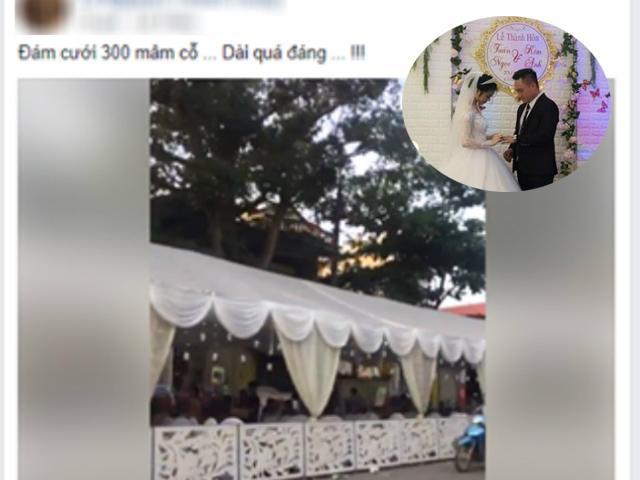 Đám cưới khủng 300 mâm cỗ, đi mỏi chân chưa hết rạp khiến dân tình choáng váng