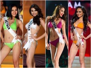 Đọ sắc vóc của các mỹ nhân Việt tại đấu trường Miss Universe