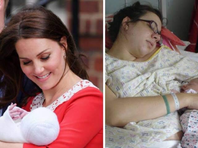 Công nương Kate đẹp rạng ngời sau sinh, các mẹ rủ nhau chia sẻ ảnh khác một trời một vực