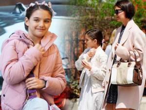 Suri Cruise vẫn trưởng thành và xinh đẹp dù 7 năm không có bố Tom Cruise bên cạnh