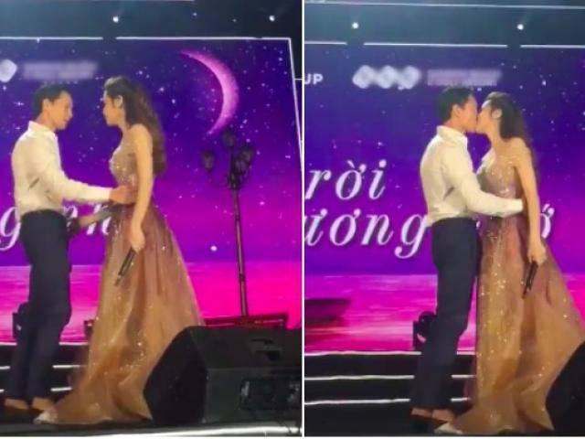 Video: Hồ Ngọc Hà và Kim Lý hôn nhau trước sự chứng kiến của hàng nghìn khán giả