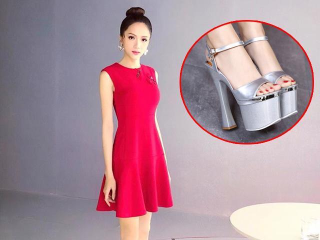 Hoa hậu Hương Giang đích thị là Nữ hoàng giày cao gót mới của Vbiz