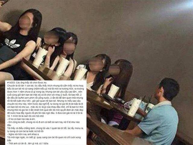 Không phải người yêu, cô gái rủ 8 người bạn tới bắt chàng trai... khao ăn và cái kết