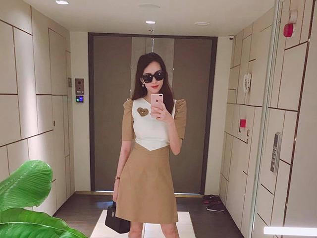 Hoa hậu Đặng Thu Thảo diện váy 850 ngàn, thon gọn tái xuất sau sinh