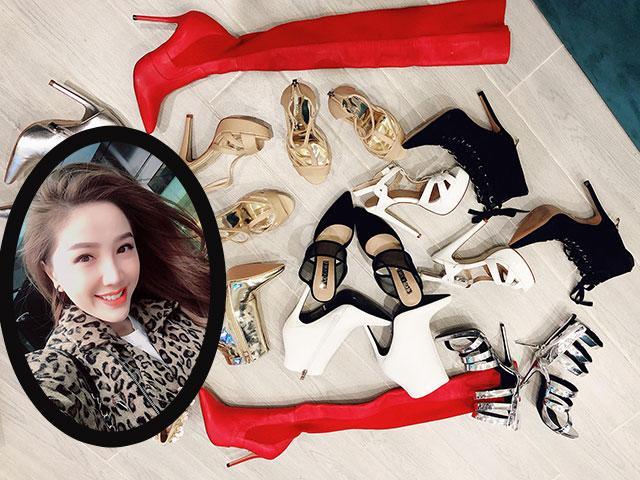Bảo Thy mua cùng lúc 11 đôi giày đủ chủng loại khiến ai cũng phải ghen tỵ!