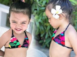 """Diện bikini đáng yêu, con gái """"Mỹ nhân đẹp nhất Philippines"""" Marian Rivera yêu không chịu nổi"""