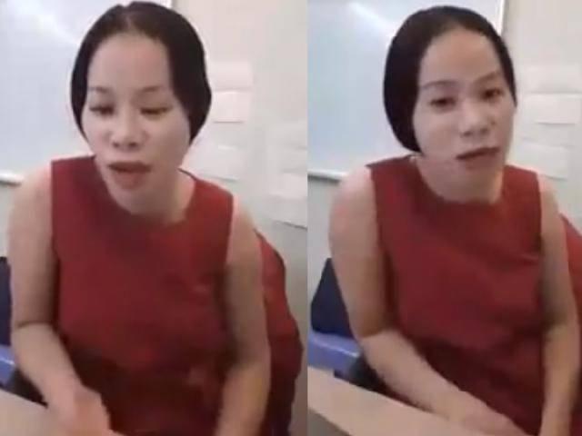 Xuất hiện clip cô giáo chửi học viên óc lợn đáp trả vì sao phải thu phạt 100 nghìn đồng