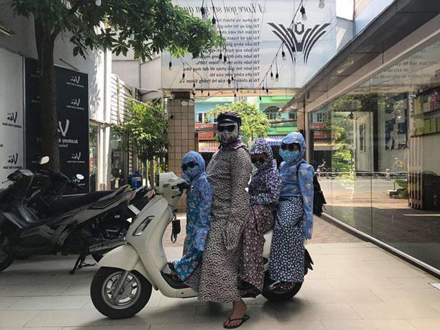 Phạm Băng Băng chắc cũng phải ngả nón trước cách chống nắng của chị em Việt