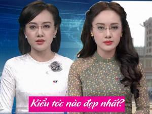 """Băn khoăn về kiểu tóc khi lên sóng, BTV Hoài Anh """"đăng đàn"""" xin ý kiến khán giả"""