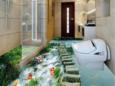 16 kiểu sàn nhà tắm 3D đẹp xuất sắc, sống động như thật khiến bạn không muốn rời nửa bước