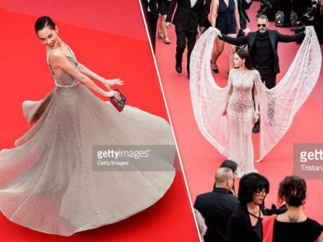 """Thảm đỏ LHP Cannes: Không phải Phạm Băng Băng, 2 mỹ nhân Châu Á này mới đẹp """"quên sầu"""""""