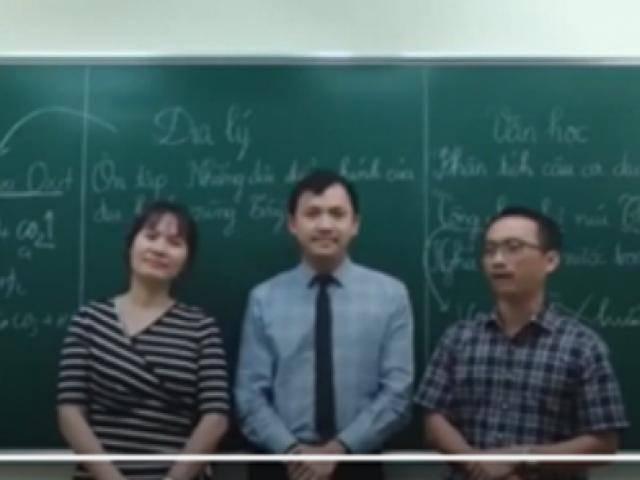 Clip tiết học tích hợp của 3 giáo viên Văn, Địa và Hóa khiến dân mạng phát sốt