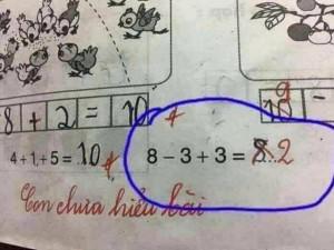 Thêm bài toán lớp 1 khiến dân mạng đau đầu đi tìm lời giải: Cô đúng hay trò đúng?