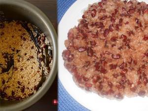 Mỗi lần nấu cơm bốc thêm nắm đậu đỏ cho vào và cái kết ngọt sau 1 tuần