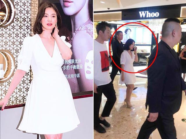 Ngôi sao 24/7: Dù đẹp xuất sắc nhưng Song Hye Kyo lại thấp lè tè khi đi cạnh vệ sĩ