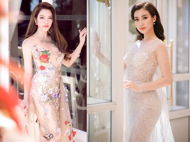 Lý Nhã Kỳ và Hoa hậu Đỗ Mỹ Linh hóa nữ thần hoa tại Cannes