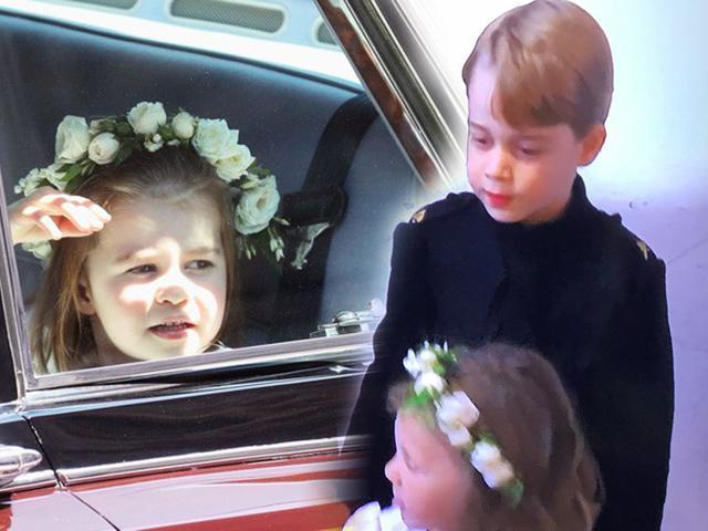 Harry và Meghan Markle rất hot nhưng Hoàng tử nhí và tiểu Công chúa trong đám cưới mới gây sốt