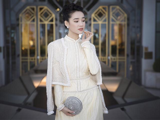 Nhã Phương mang áo dài Công Trí thắp sáng LHP Cannes 2018