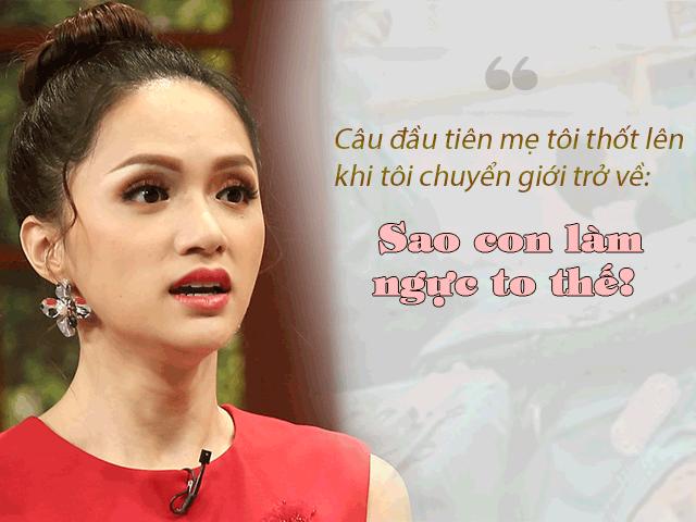Hoa hậu Hương Giang trốn trên tầng 4, mấy tháng trời không gặp bố sau khi chuyển giới