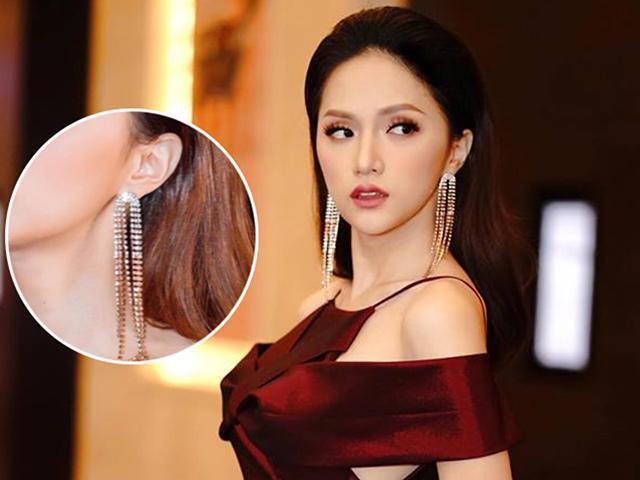 Bật mí đôi hoa tai khiến Hoa hậu Hương Giang luôn toả sáng mọi nơi