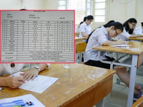 """Xôn xao bảng điểm toàn 10 của nữ sinh lớp 9, dân mạng nghi giả mạo để """"câu like"""""""