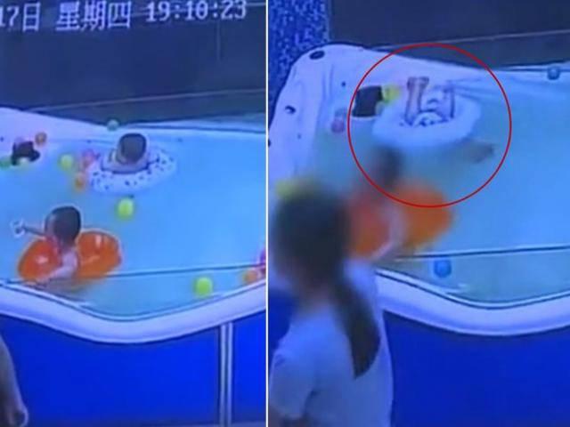 Bé 7 tháng tuổi lật phao, đuối nước gần 1 phút ngay cạnh nhân viên dạy bơi