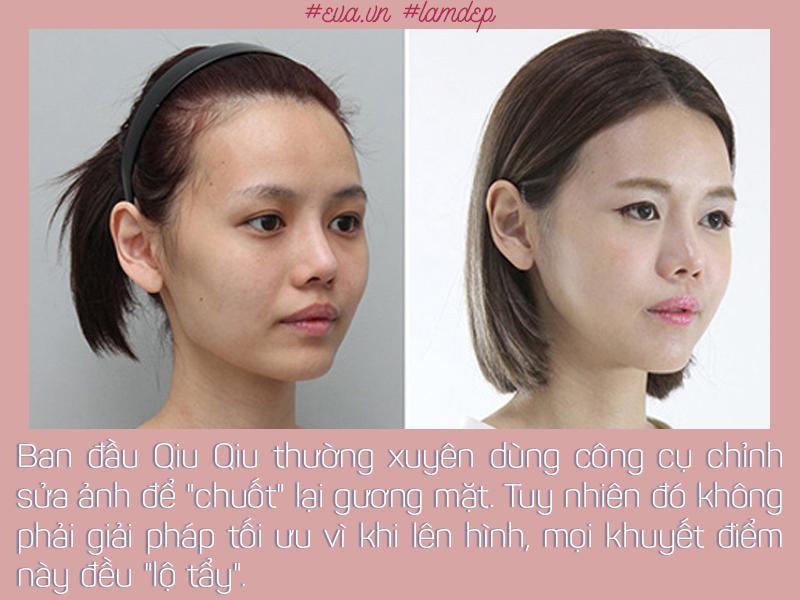 Ngày bé Qiu Qiu đã cảm thấy không thích gương mặt to bạnh với đường hàm thô cứng của mình.