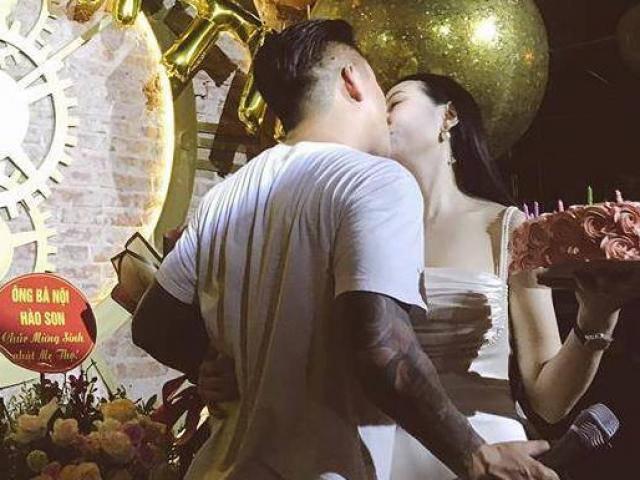 Tuấn Hưng hôn vợ đắm đuối trong ngày sinh nhật