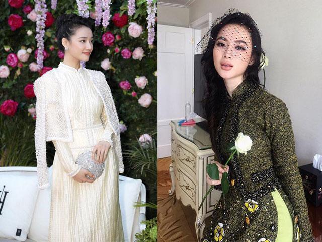 Học cách mặc áo dài vừa chất lại không bị sến như Nhã Phương, Angela Phương Trinh