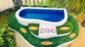 Ngưỡng mộ ông bố Phú Yên dạy học cả ngày vẫn tranh thủ xây bể bơi tuyệt đẹp cho con