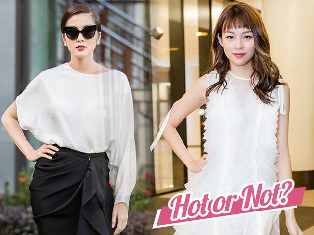 Cùng mặc đen trắng mà Hà Tăng vẫn sáng ngời, phong cách Phí Phương Anh giảm phong độ