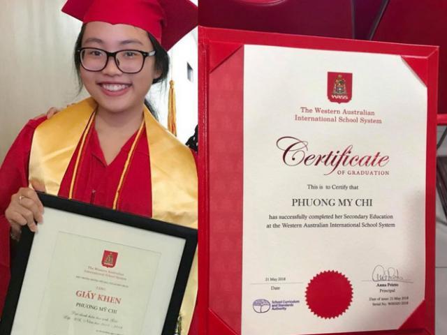 Dù chạy show miệt mài, Phương Mỹ Chi vẫn đạt bằng giỏi khi tốt nghiệp cấp 2
