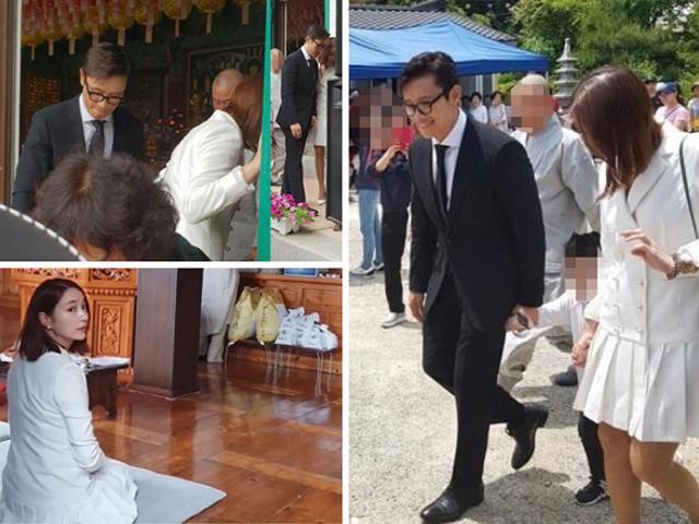 Lần hiếm hoi vợ chồng Lee Byung Hun công khai đưa con trai xuất hiện trước công chúng