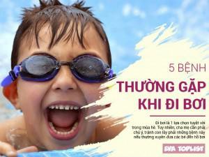 5 bệnh trẻ dễ mắc khi bơi lội mùa hè
