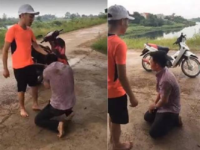 Hà Nội: Nhắn tin rủ bà bầu đi nhà nghỉ, nam thanh niên bị đánh và bắt quỳ xin lỗi