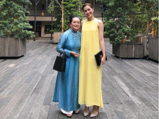 Hiếm hoi lắm mới thấy Tăng Thanh Hà đăng tải hình ảnh về mẹ ruột